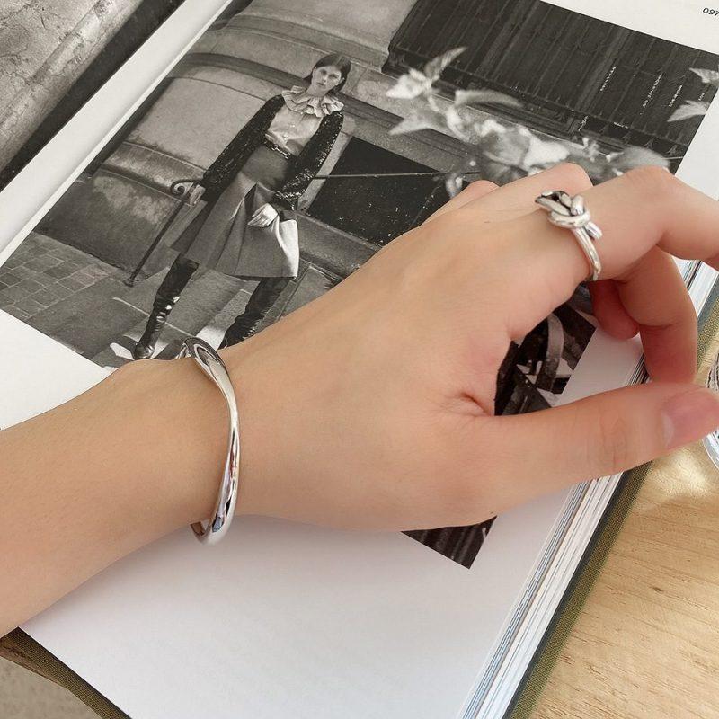 Vòng tay Lắc tay bạc 925 nguyên khối 11296124-04
