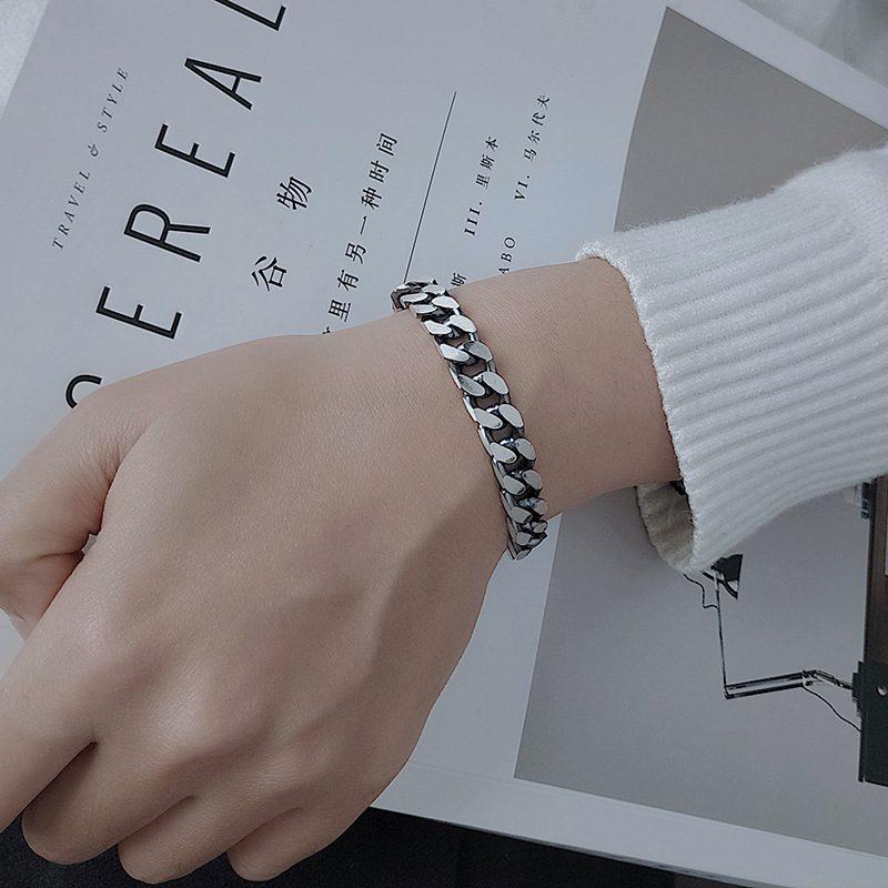 Lắc tay Vòng tay bạc dạng chuỗi đan nhau LILI_151175-02