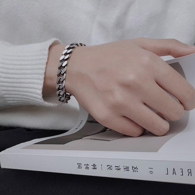 Lắc tay Vòng tay bạc dạng chuỗi đan nhau LILI_151175-04