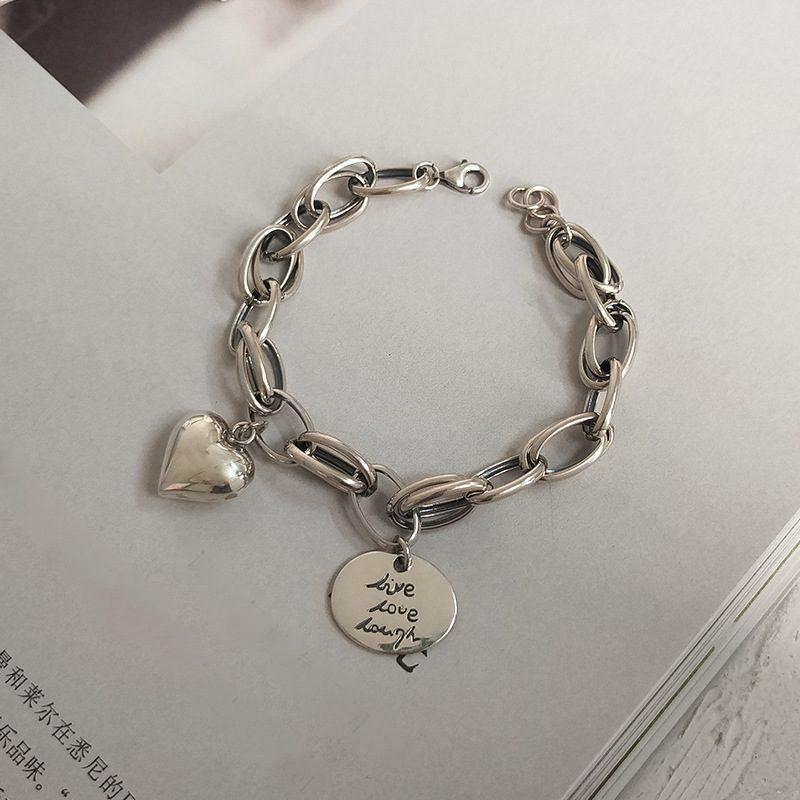 Lắc tay Vòng tay bạc dạng chuỗi hình trái tim LILI_924227-01