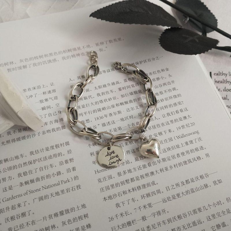 Lắc tay Vòng tay bạc dạng chuỗi hình trái tim LILI_924227-04