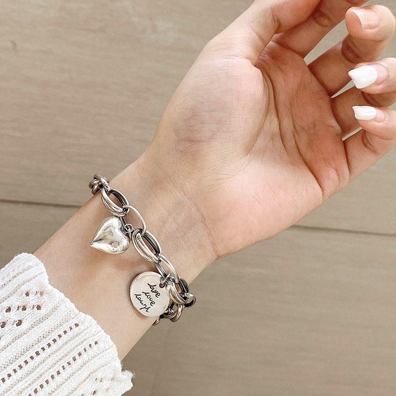 Lắc tay Vòng tay bạc dạng chuỗi hình trái tim LILI_924227-05