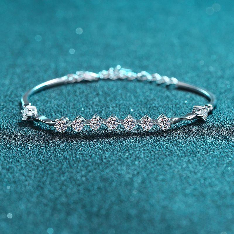 Lắc tay Vòng tay bạc mạ bạch kim đính kim cương Moissanite LILI_796784-06