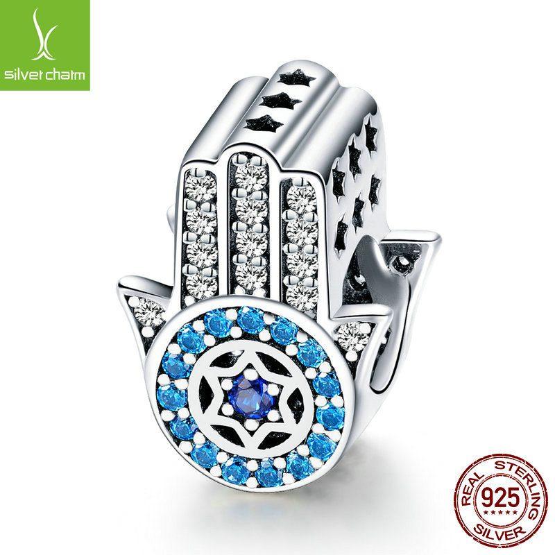 Bộ sưu tập hạt charm bạc mạ bạch kim xỏ DIY dát đá Zircon LILI_461574-04