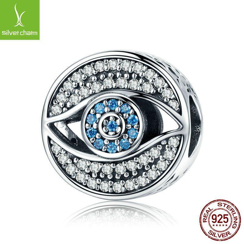 Bộ sưu tập hạt charm bạc mạ bạch kim xỏ DIY dát đá Zircon LILI_461574-06