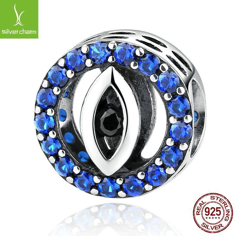 Bộ sưu tập hạt charm bạc mạ bạch kim xỏ DIY dát đá Zircon LILI_461574-09