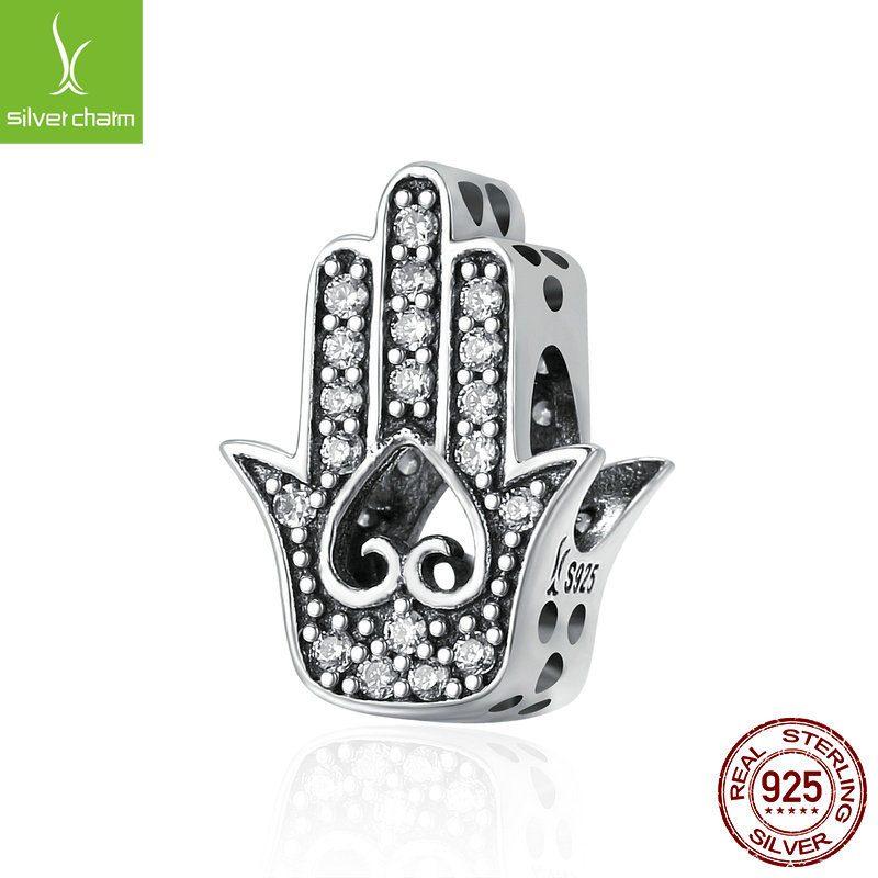 Bộ sưu tập hạt charm bạc mạ bạch kim xỏ DIY dát đá Zircon LILI_461574-12