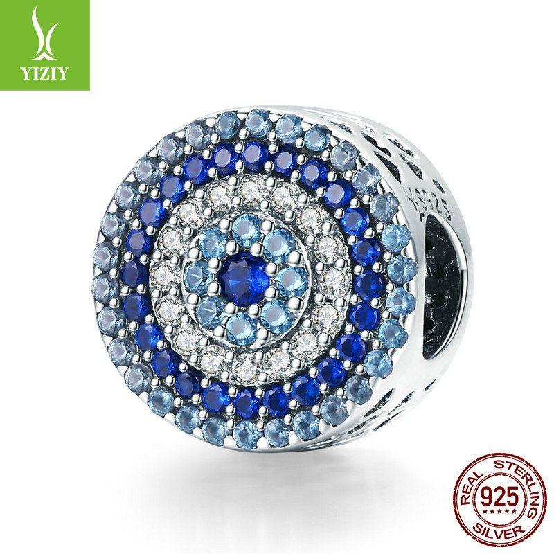 Bộ sưu tập hạt charm bạc mạ bạch kim xỏ DIY dát đá Zircon LILI_461574-13