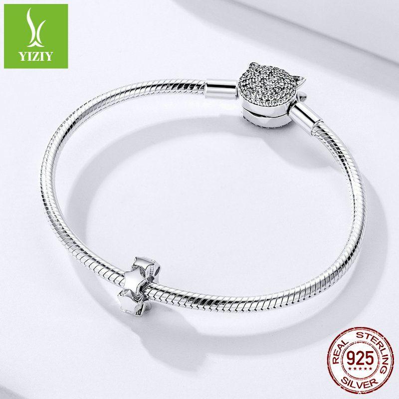 Bộ sưu tập hạt charm bạc mạ bạch kim xỏ DIY dát đá Zircon LILI_526941-02