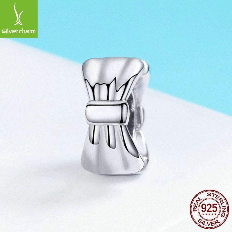 Bộ sưu tập hạt charm bạc mạ bạch kim xỏ DIY dát đá Zircon LILI_526941-03
