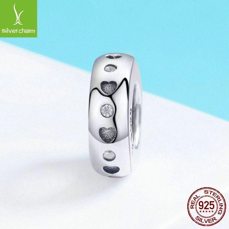 Bộ sưu tập hạt charm bạc mạ bạch kim xỏ DIY dát đá Zircon LILI_526941-07