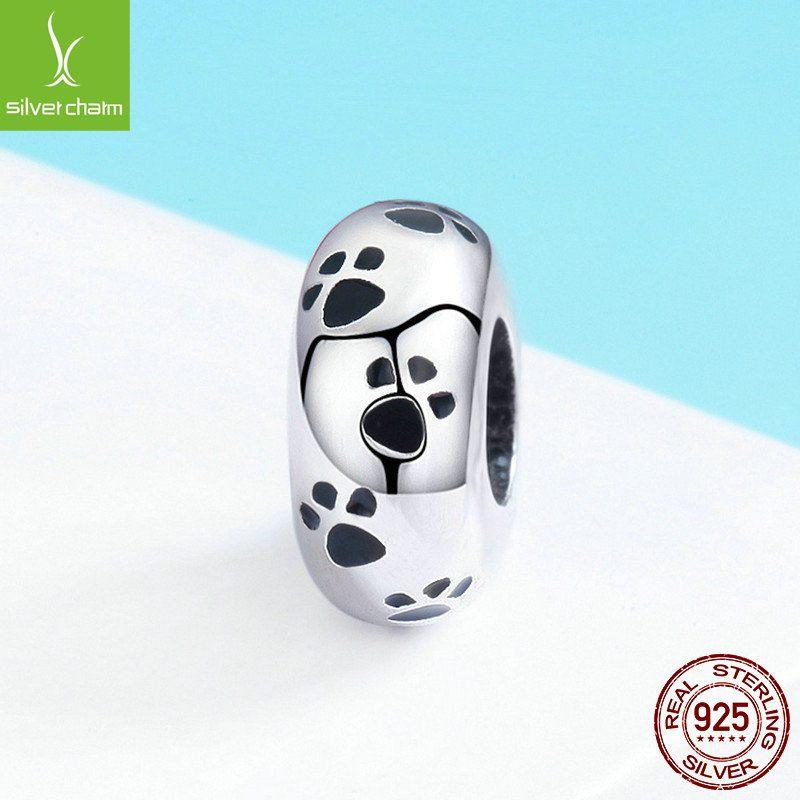 Bộ sưu tập hạt charm bạc mạ bạch kim xỏ DIY dát đá Zircon LILI_526941-09