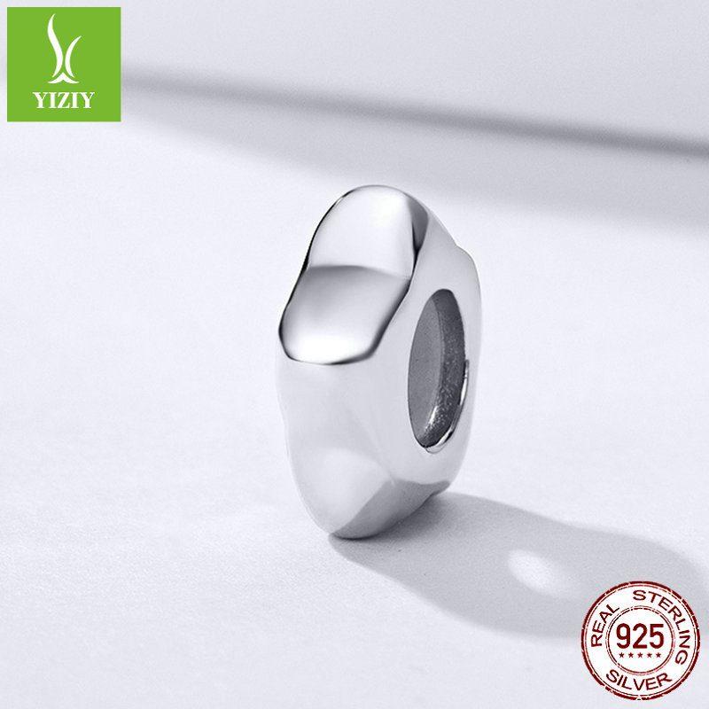 Bộ sưu tập hạt charm bạc mạ bạch kim xỏ DIY dát đá Zircon LILI_526941-11