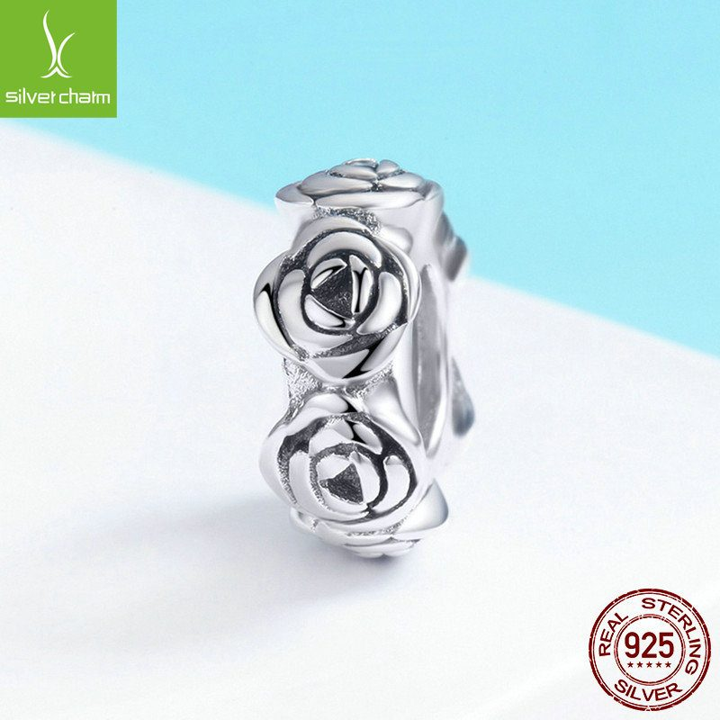 Bộ sưu tập hạt charm bạc mạ bạch kim xỏ DIY dát đá Zircon LILI_526941-12