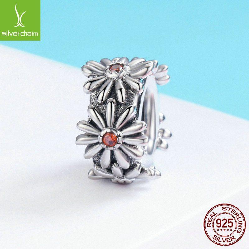 Bộ sưu tập hạt charm bạc mạ bạch kim xỏ DIY dát đá Zircon LILI_526941-13