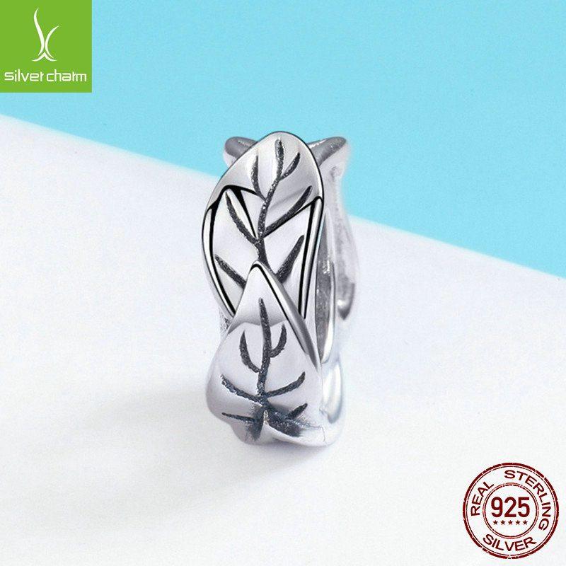 Bộ sưu tập hạt charm bạc mạ bạch kim xỏ DIY dát đá Zircon LILI_526941-14