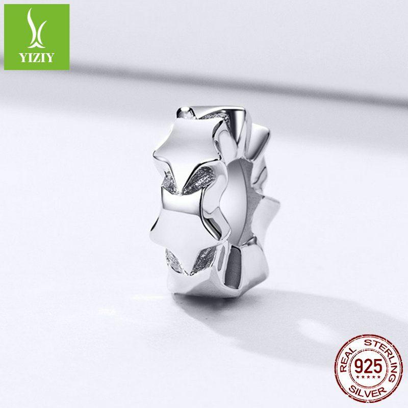 Bộ sưu tập hạt charm bạc mạ bạch kim xỏ DIY dát đá Zircon LILI_526941-15