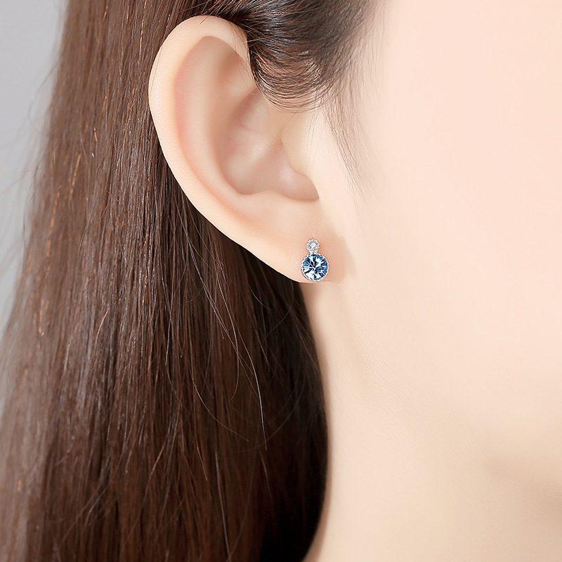 Bông tai bạc đính đá Swarovski Trái tim của biển LILI_141382-05