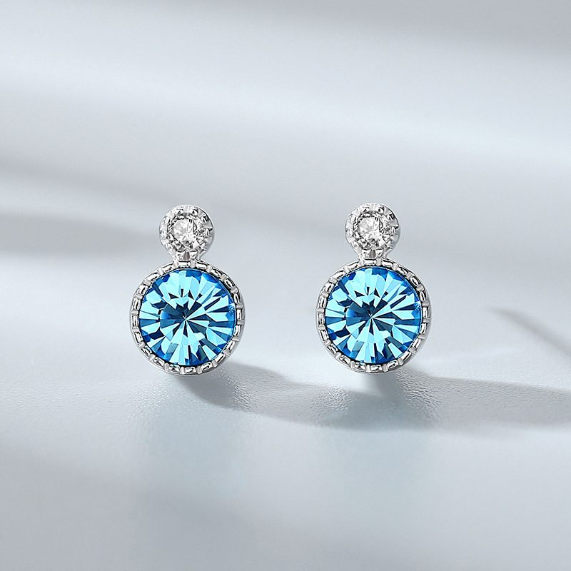 Bông tai bạc đính đá Swarovski Trái tim của biển LILI_141382-06