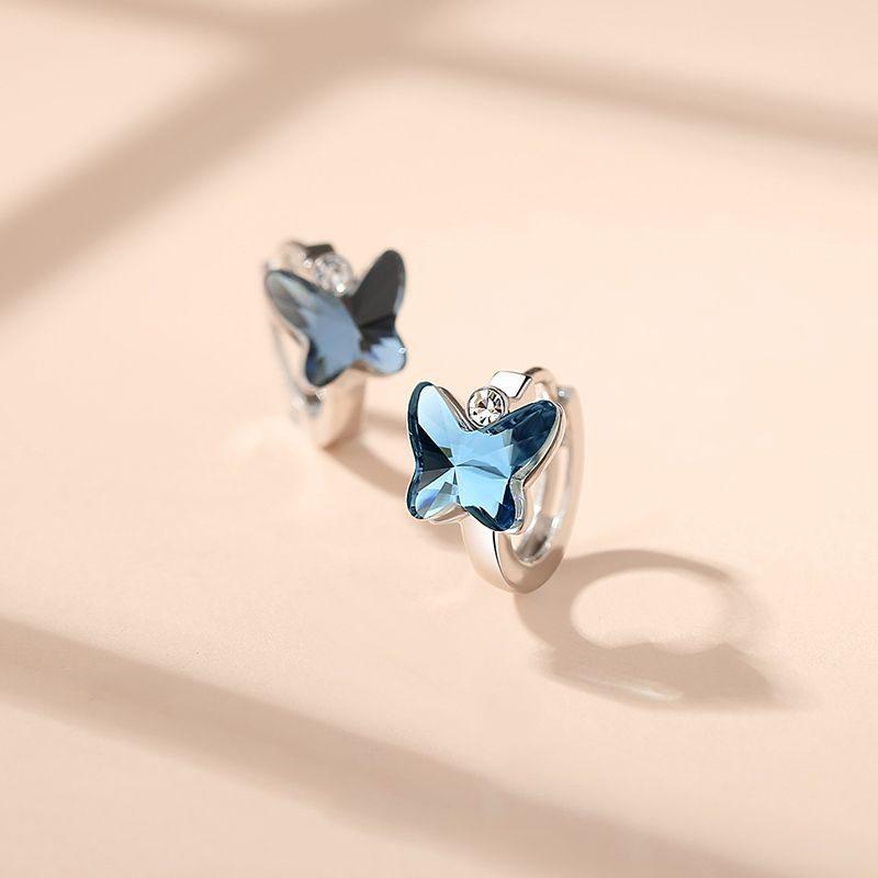 Bông tai bạc đính đá Swarovski hình cánh bướm LILI_192221-01