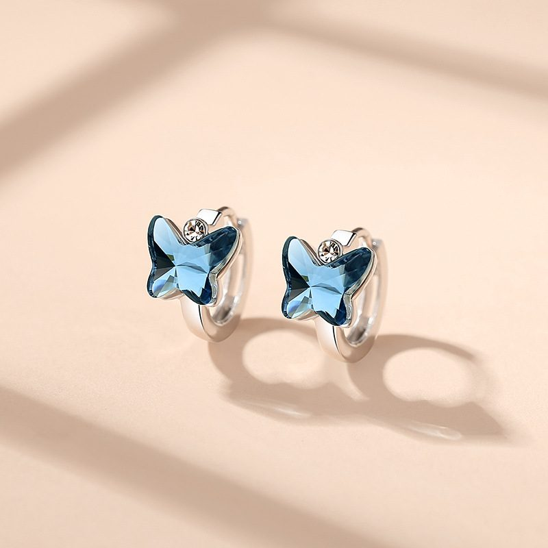 Bông tai bạc đính đá Swarovski hình cánh bướm LILI_192221-02