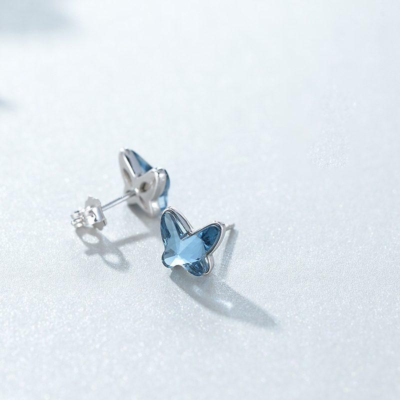 Bông tai bạc đính đá Swarovski hình cánh bướm LILI_911793-01