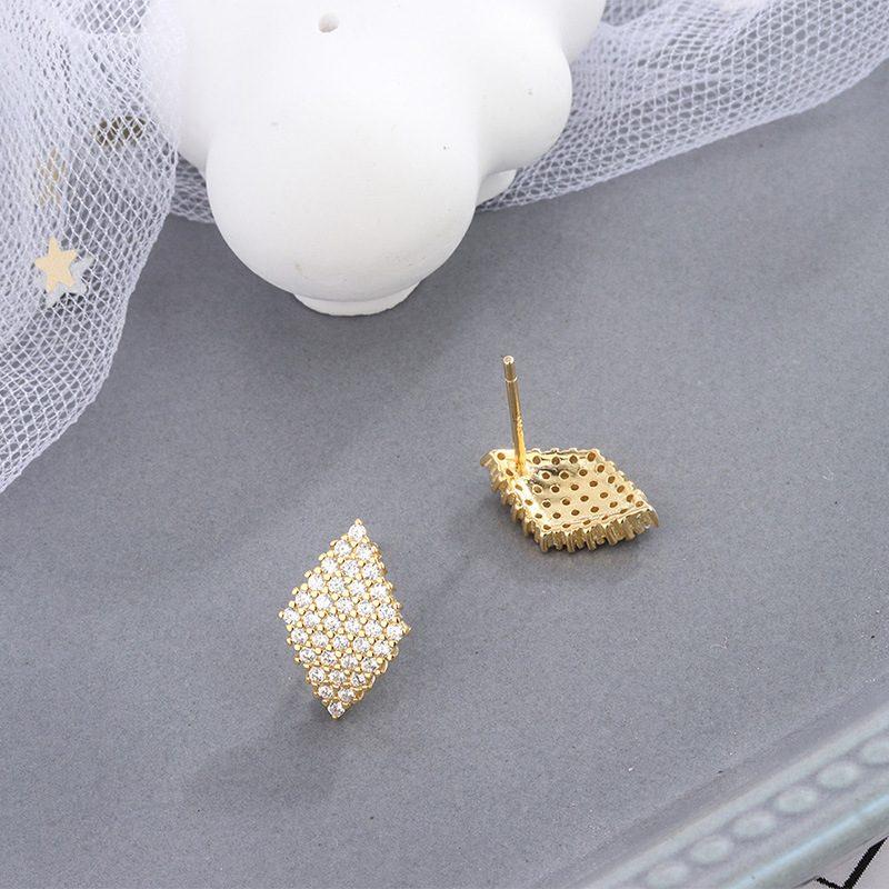 Bông tai bạc đính đá Zircon Lovely Day LILI_372149-01
