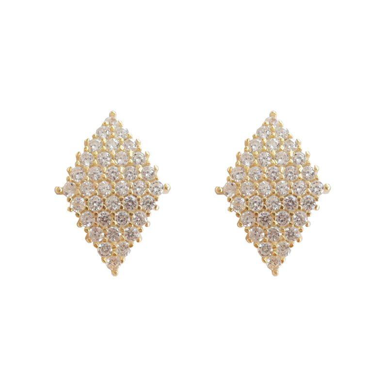 Bông tai bạc đính đá Zircon Lovely Day LILI_372149-02