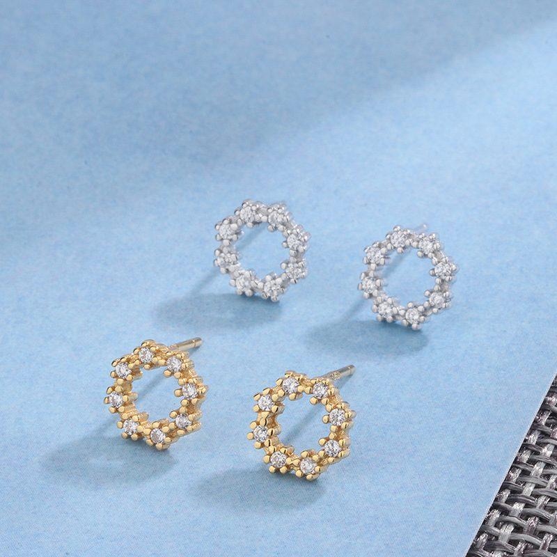 Bông tai bạc đính đá Zircon Lovely LILI_262227-01