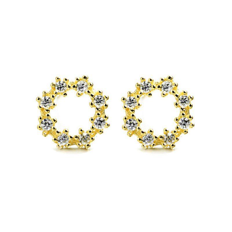 Bông tai bạc đính đá Zircon Lovely LILI_262227-03