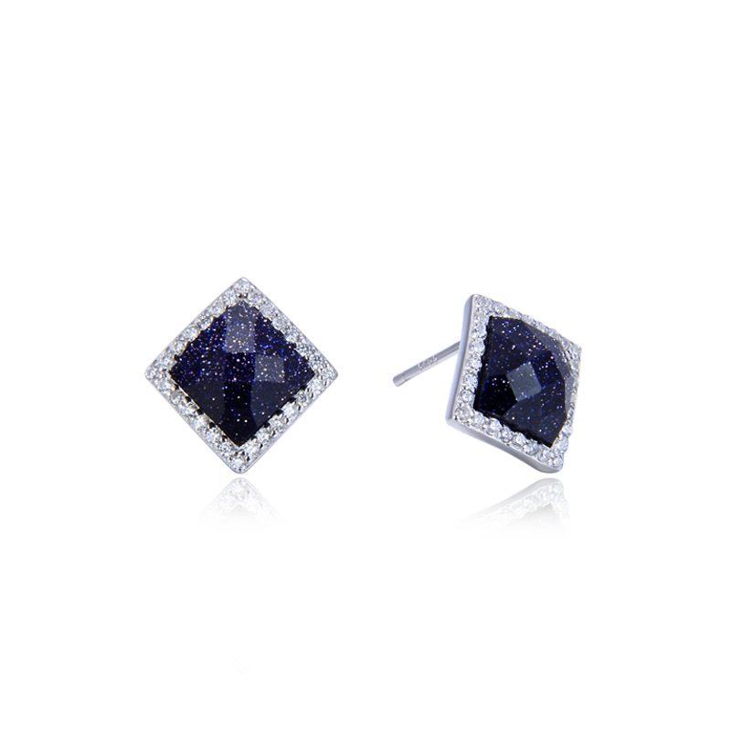 Bông tai bạc đính đá Zircon Lucky Day LILI_229119-04