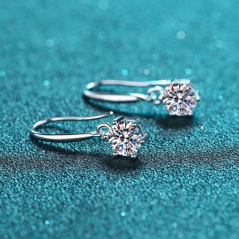 Bông tai bạc đính kim cương Moissanite 2 carat LILI_142123-04