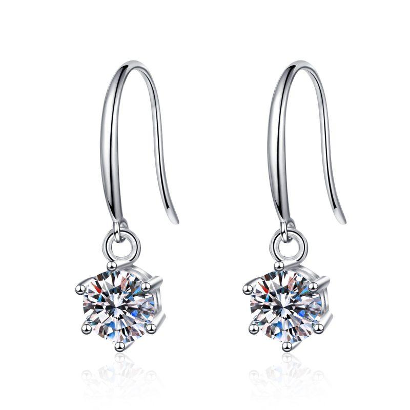 Bông tai bạc đính kim cương Moissanite 2 carat LILI_142123-05