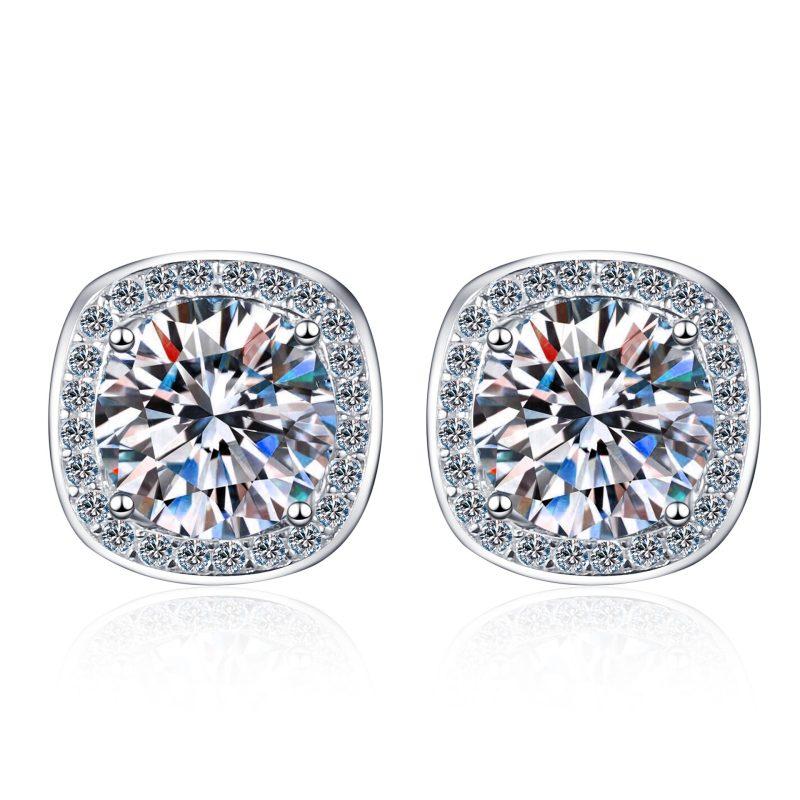 Bông tai bạc đính kim cương Moissanite 2 carat LILI_216225-05