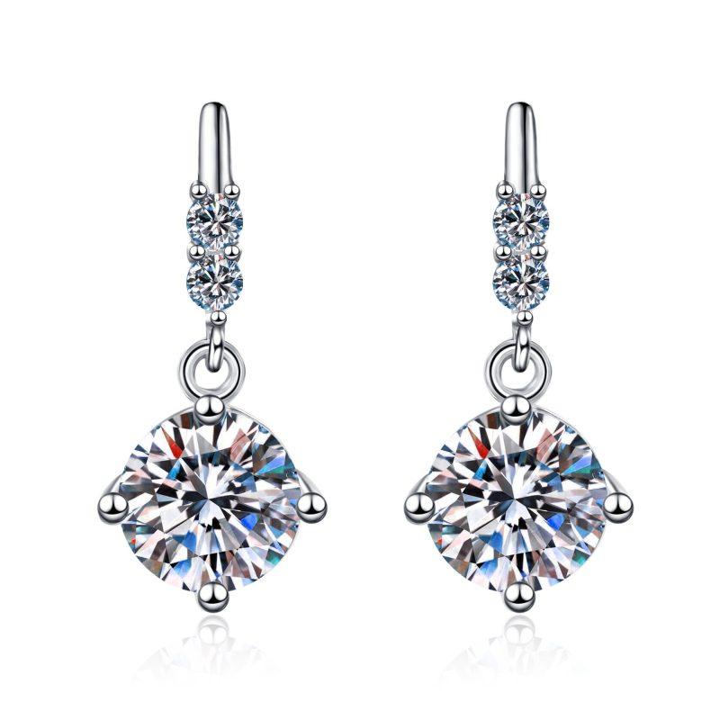 Bông tai bạc đính kim cương Moissanite 2 carat LILI_766432-05