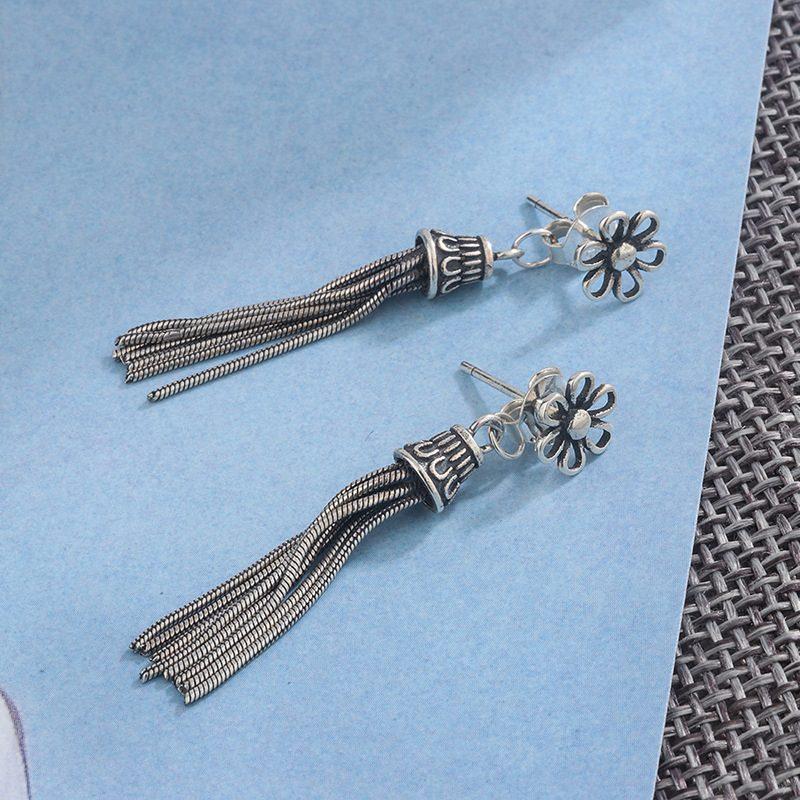 Bông tai bạc hình bông hoa Vintage LILI_263967-03