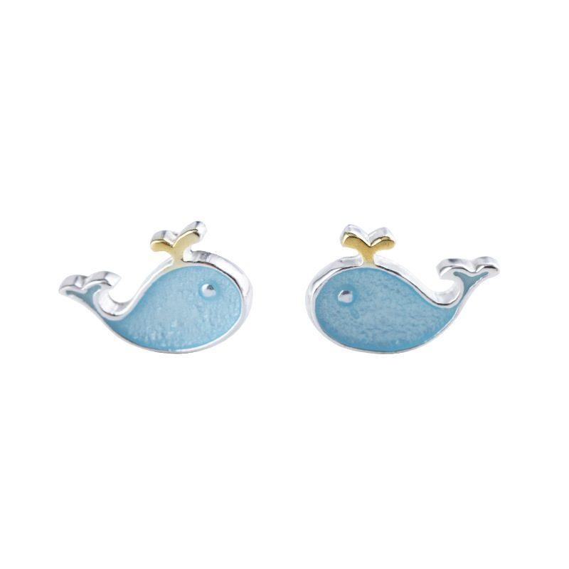 Bông tai bạc hình cá voi xanh LILI_738242-05