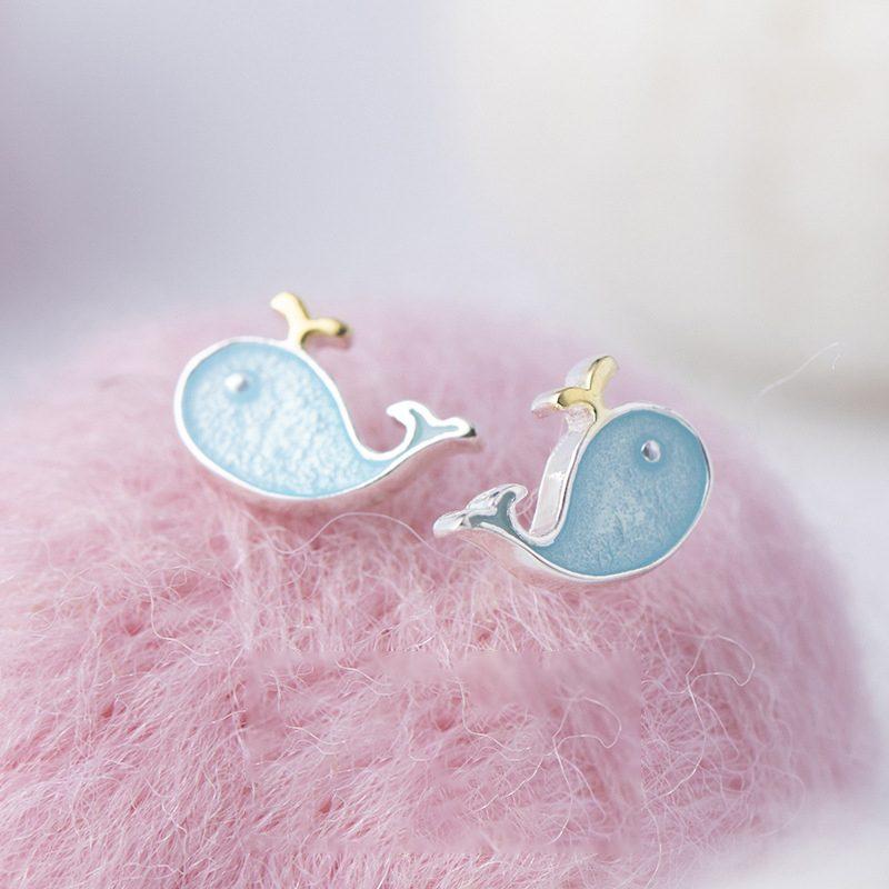 Bông tai bạc hình cá voi xanh LILI_738242-06