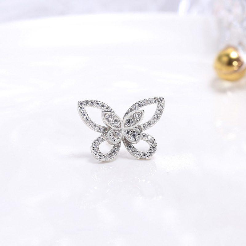 Bông tai bạc hình cánh bướm LILI_751445-02