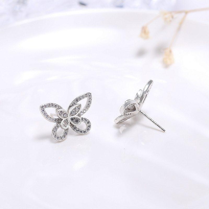 Bông tai bạc hình cánh bướm LILI_751445-03