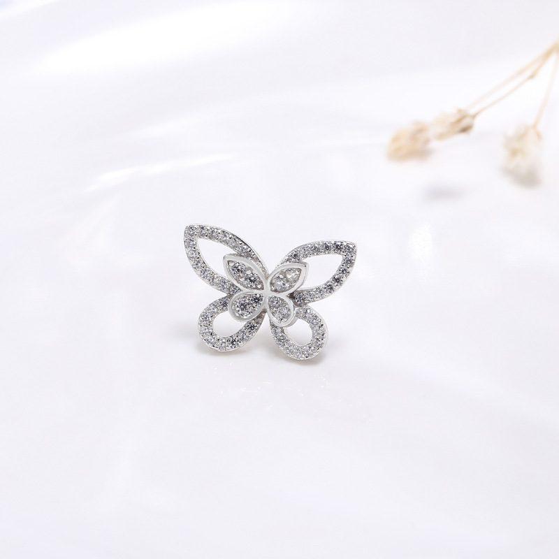Bông tai bạc hình cánh bướm LILI_751445-05