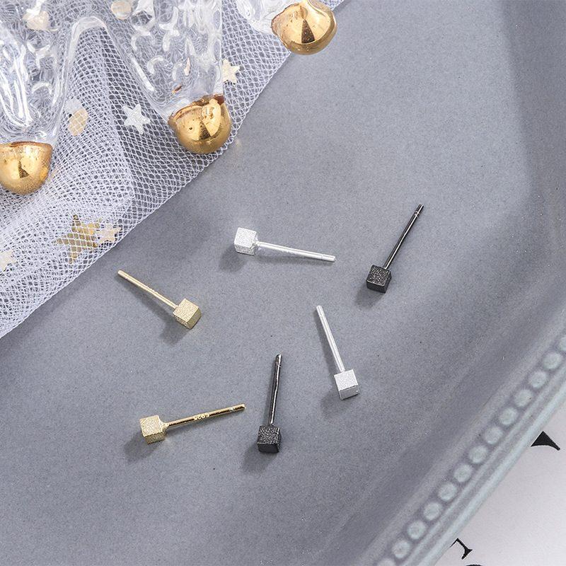 Bông tai bạc hình khối hộp LILI_314163-03