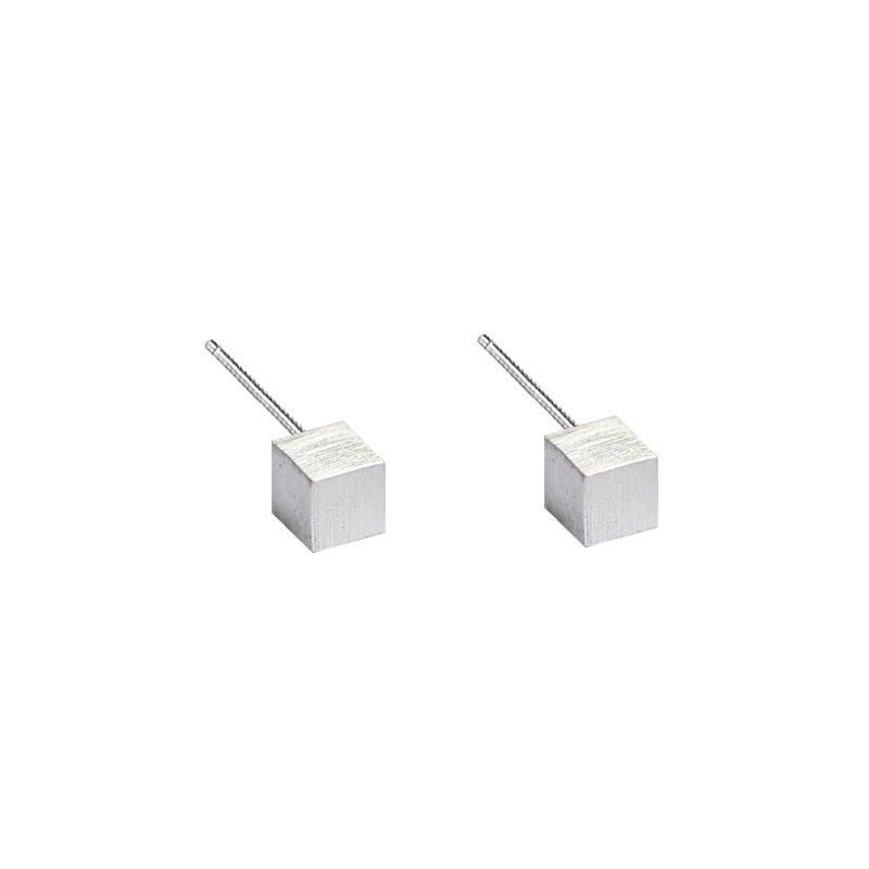 Bông tai bạc hình khối hộp LILI_314163-04