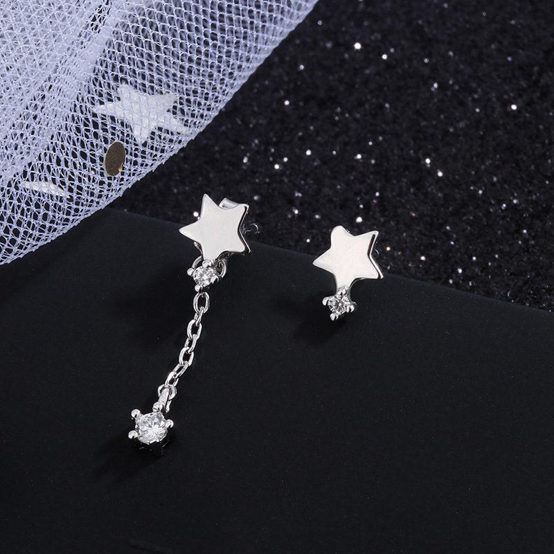 Bông tai bạc hình ngôi sao 5 cánh LILI_455796-04