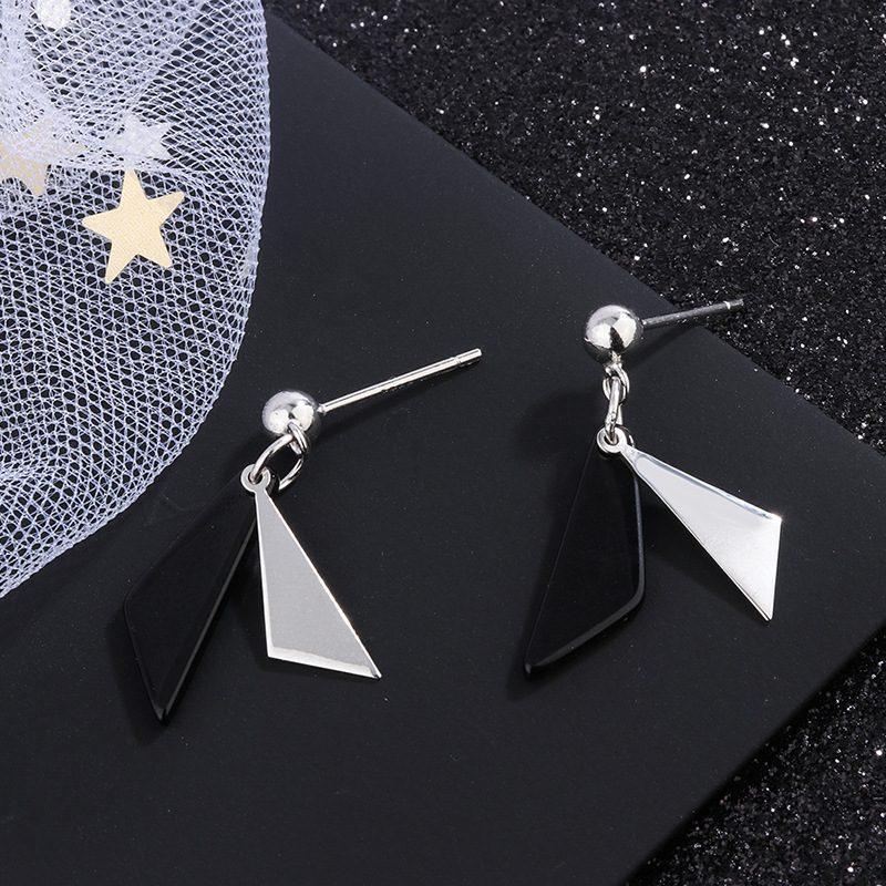 Bông tai bạc hình tam giác đối sắc LILI_854986-02