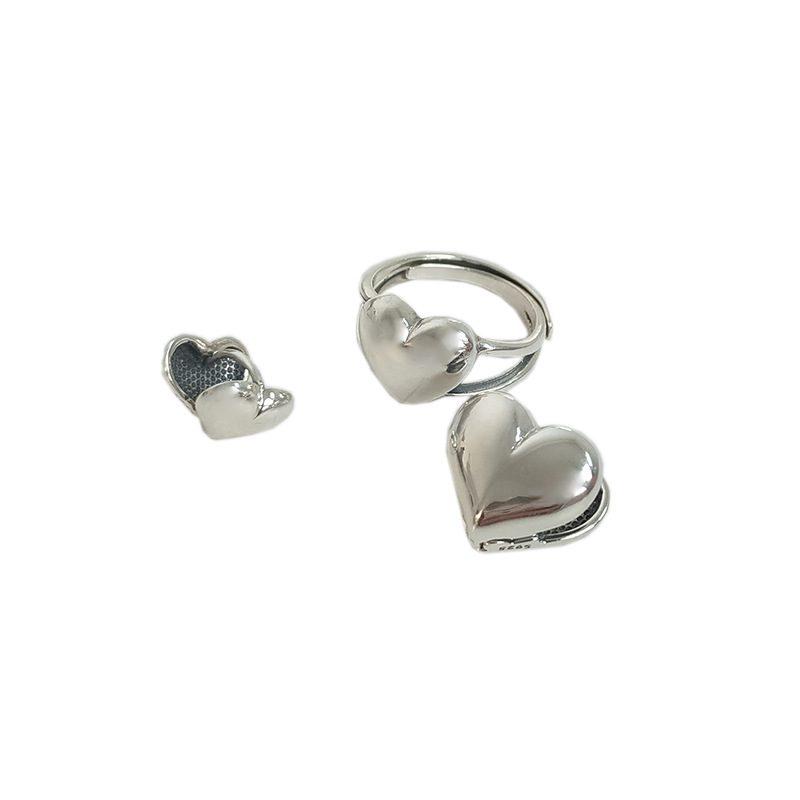 Bông tai bạc hình trái tim LILI_276793-05