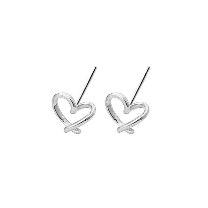 Bông tai bạc hình trái tim LILI_724557-04