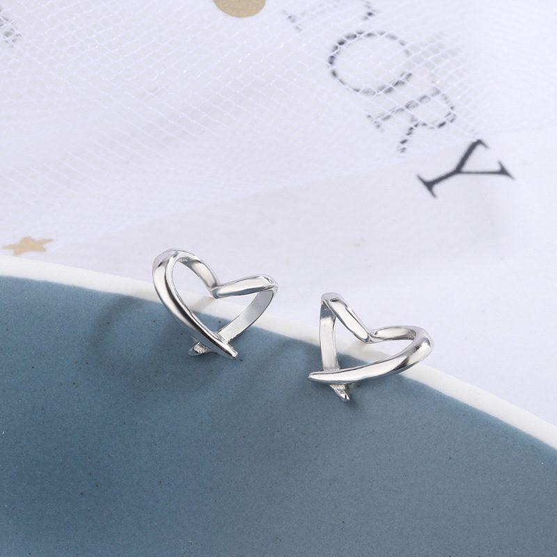 Bông tai bạc hình trái tim LILI_724557-05