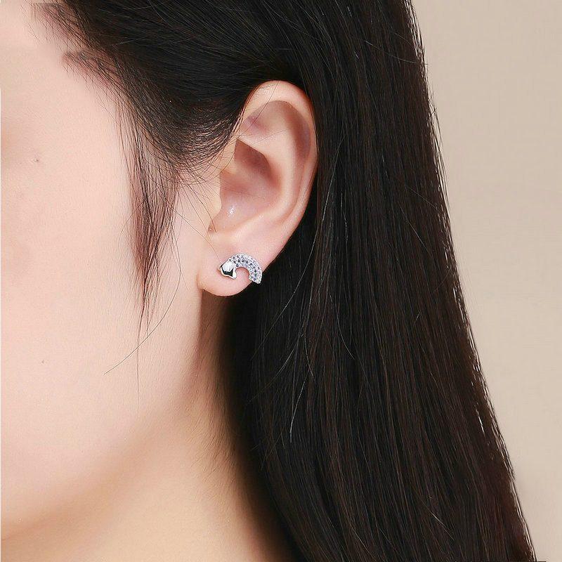 Bông tai bạc mạ bạch kim đính đá Zircon cầu vồng đa sắc LILI_656462-04