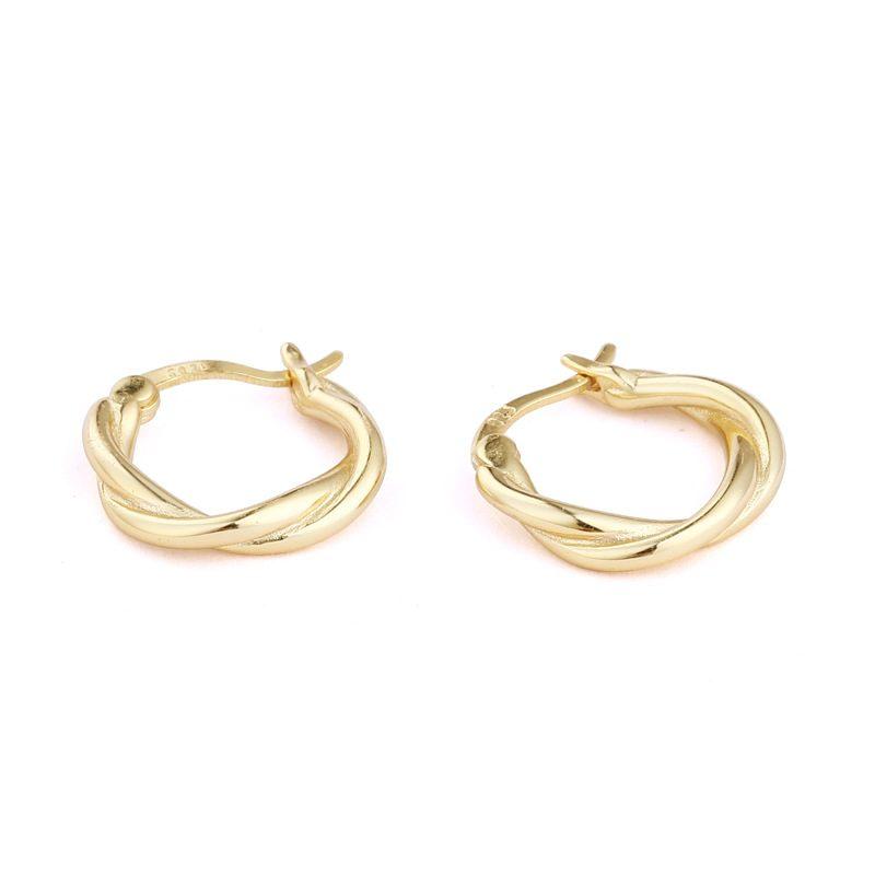 Bông tai bạc mạ vàng hình xoắn Baby Love LILI_874139-02